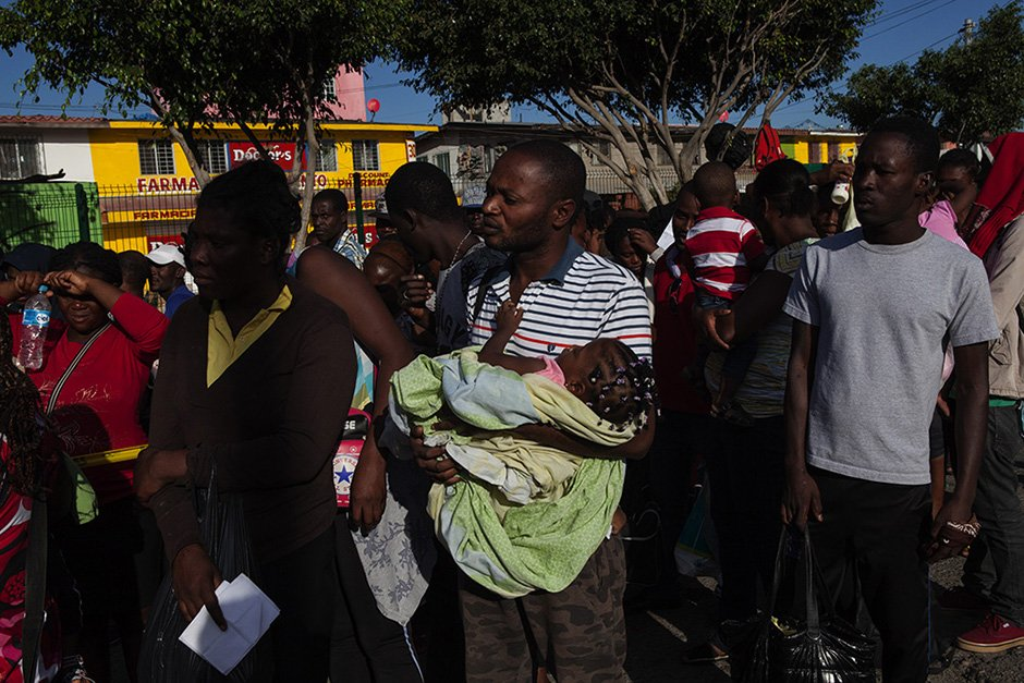 Thousands of Haitians and Africans arrive in Tijuana, Mexico, to seek asylum in the US